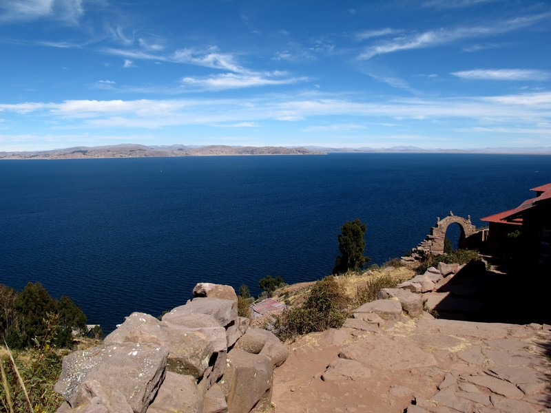 Overlooking Lake Titicaca